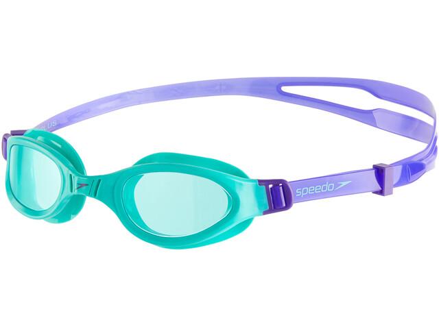 speedo Futura Plus Goggles Kinder violet/spearmint